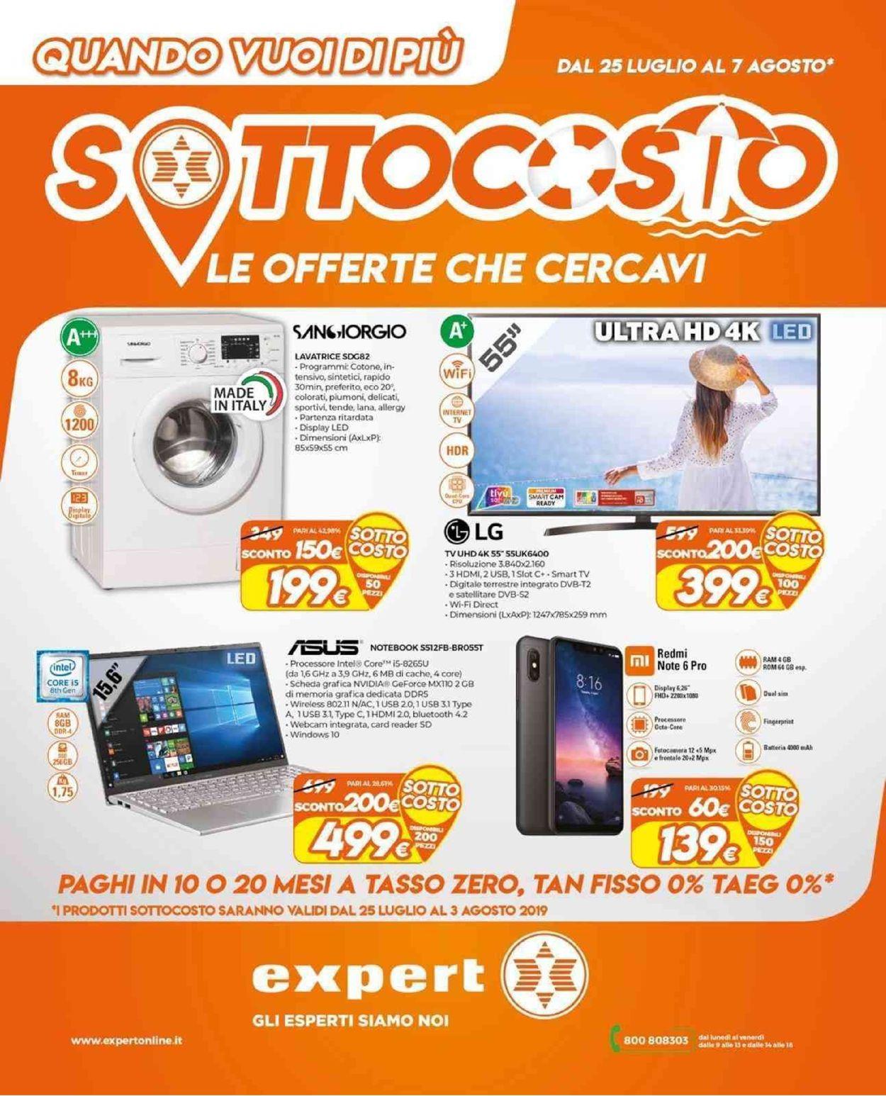Volantino Expert - Offerte 25/07-07/08/2019