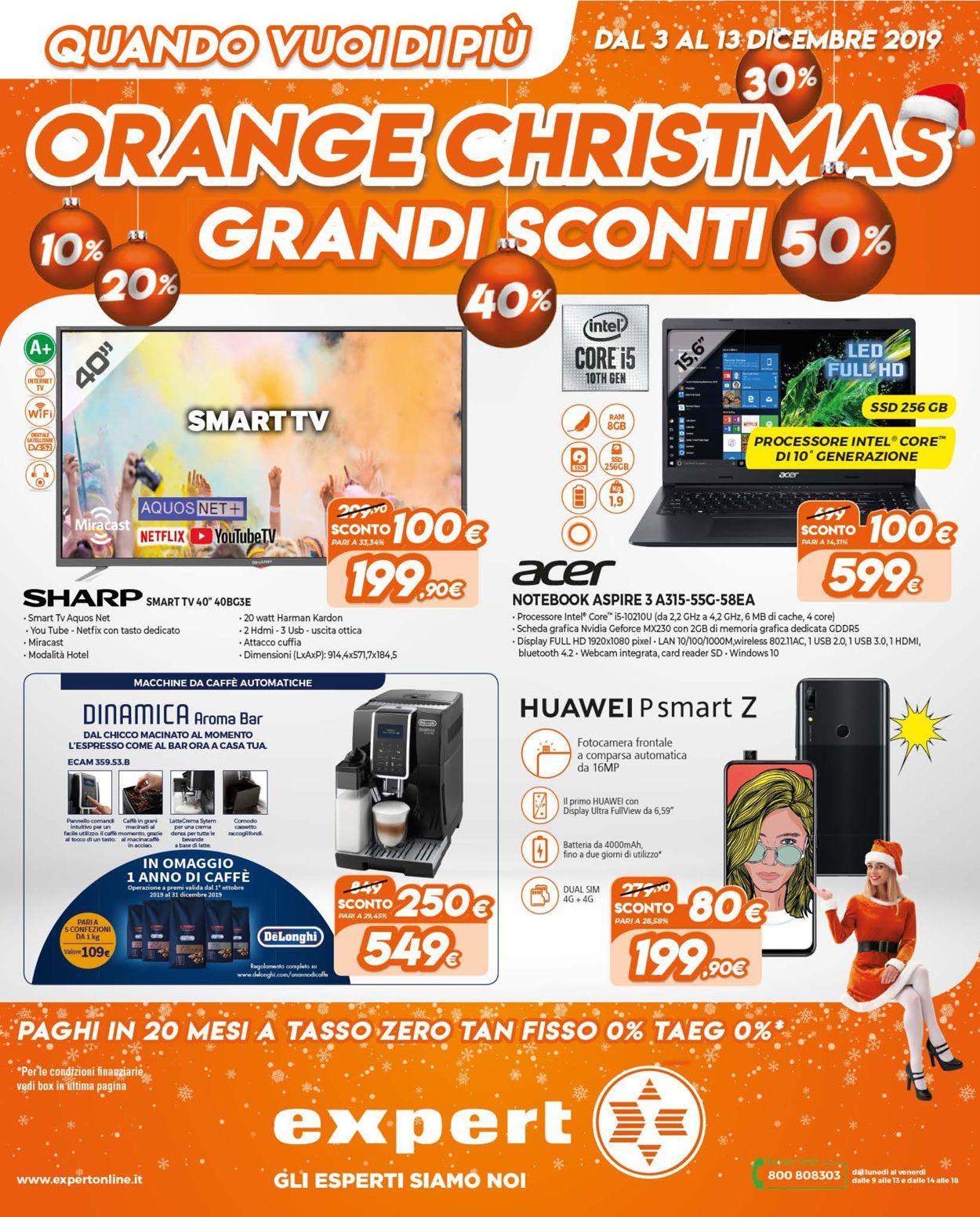 Volantino Il volantino natalizio di Expert - Offerte 03/12-13/12/2019