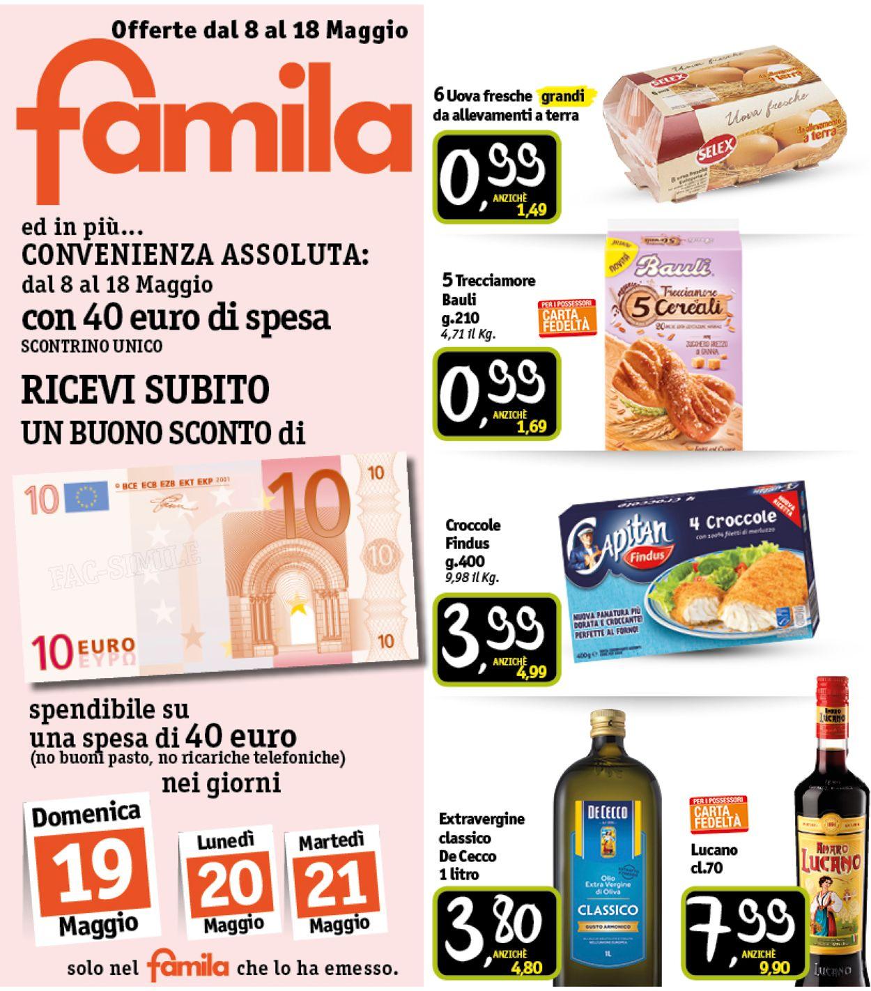 Volantino Famila - Offerte 08/05-18/05/2019
