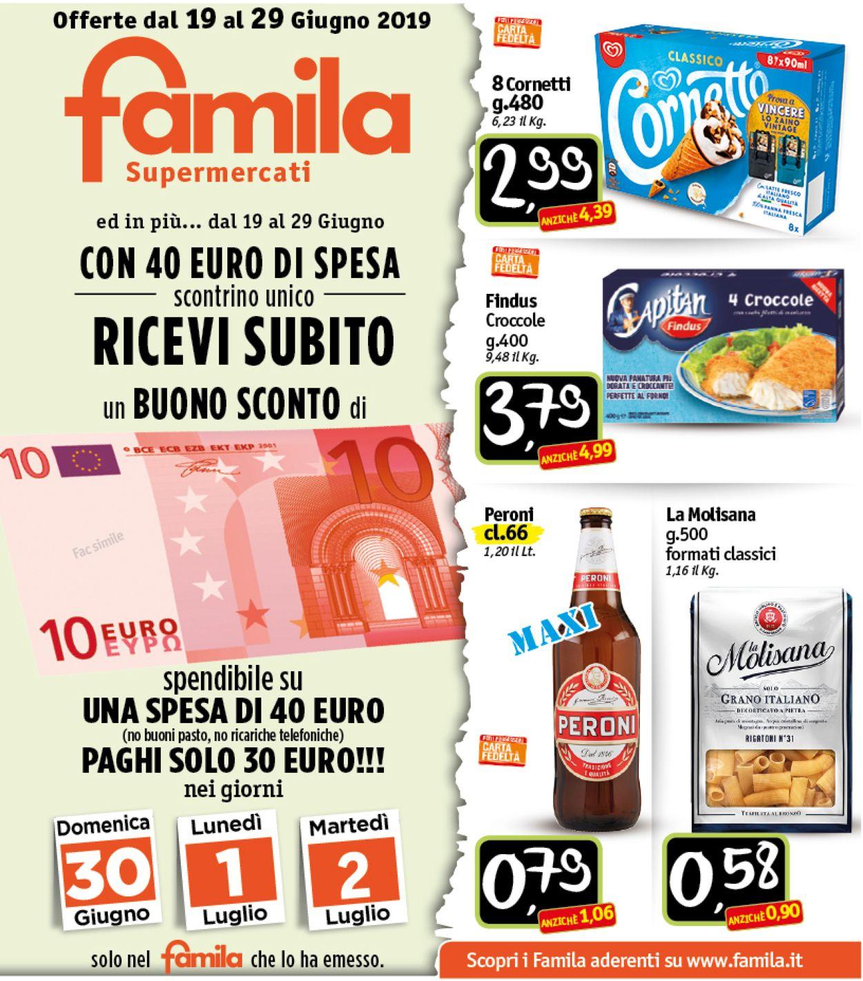 Volantino Famila - Offerte 19/06-29/06/2019