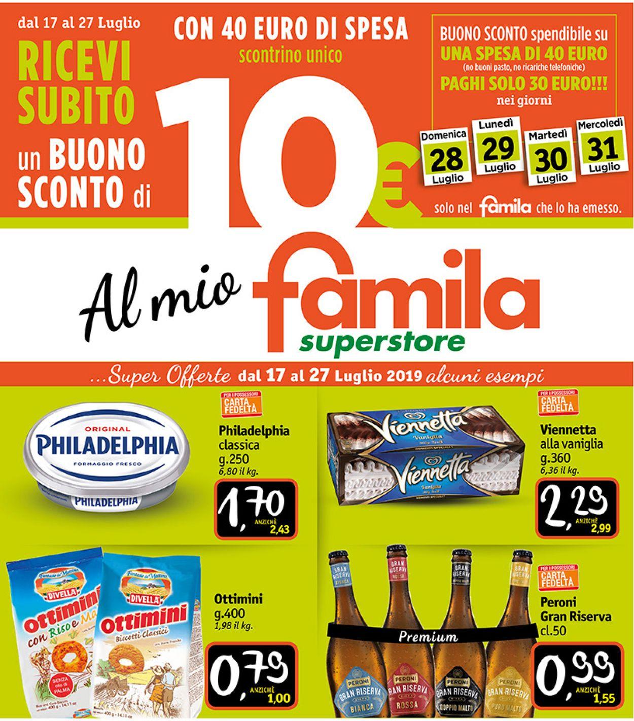 Volantino Famila - Offerte 17/07-27/07/2019