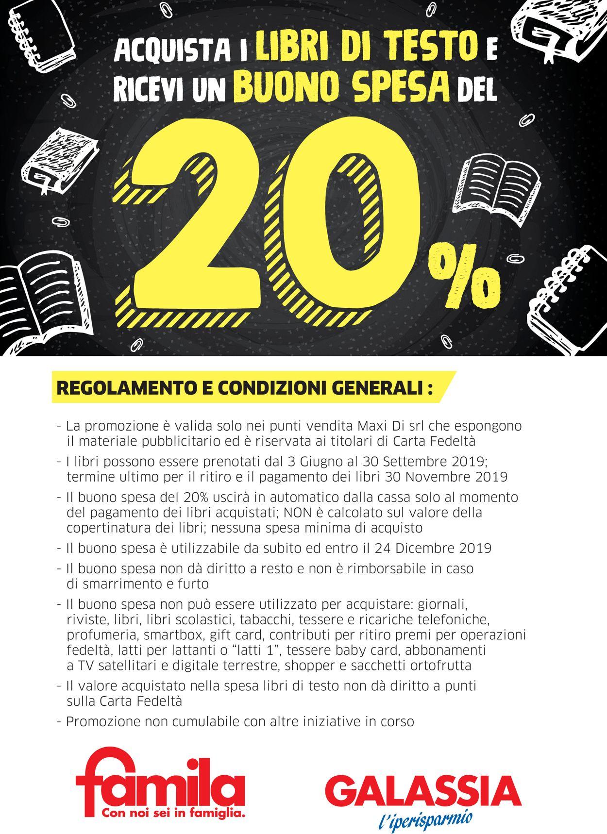 Volantino Famila - Offerte 03/06-30/09/2019