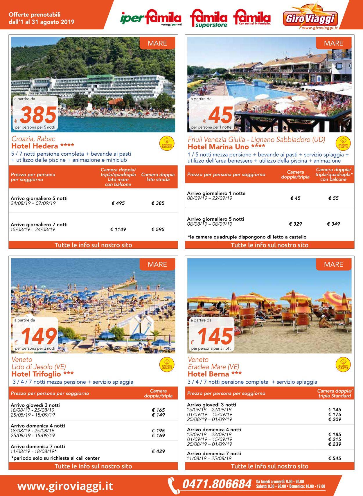 Volantino Famila - Offerte 01/08-31/08/2019 (Pagina 3)