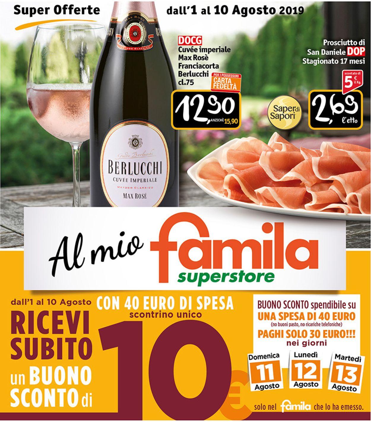 Volantino Famila - Offerte 01/08-10/08/2019