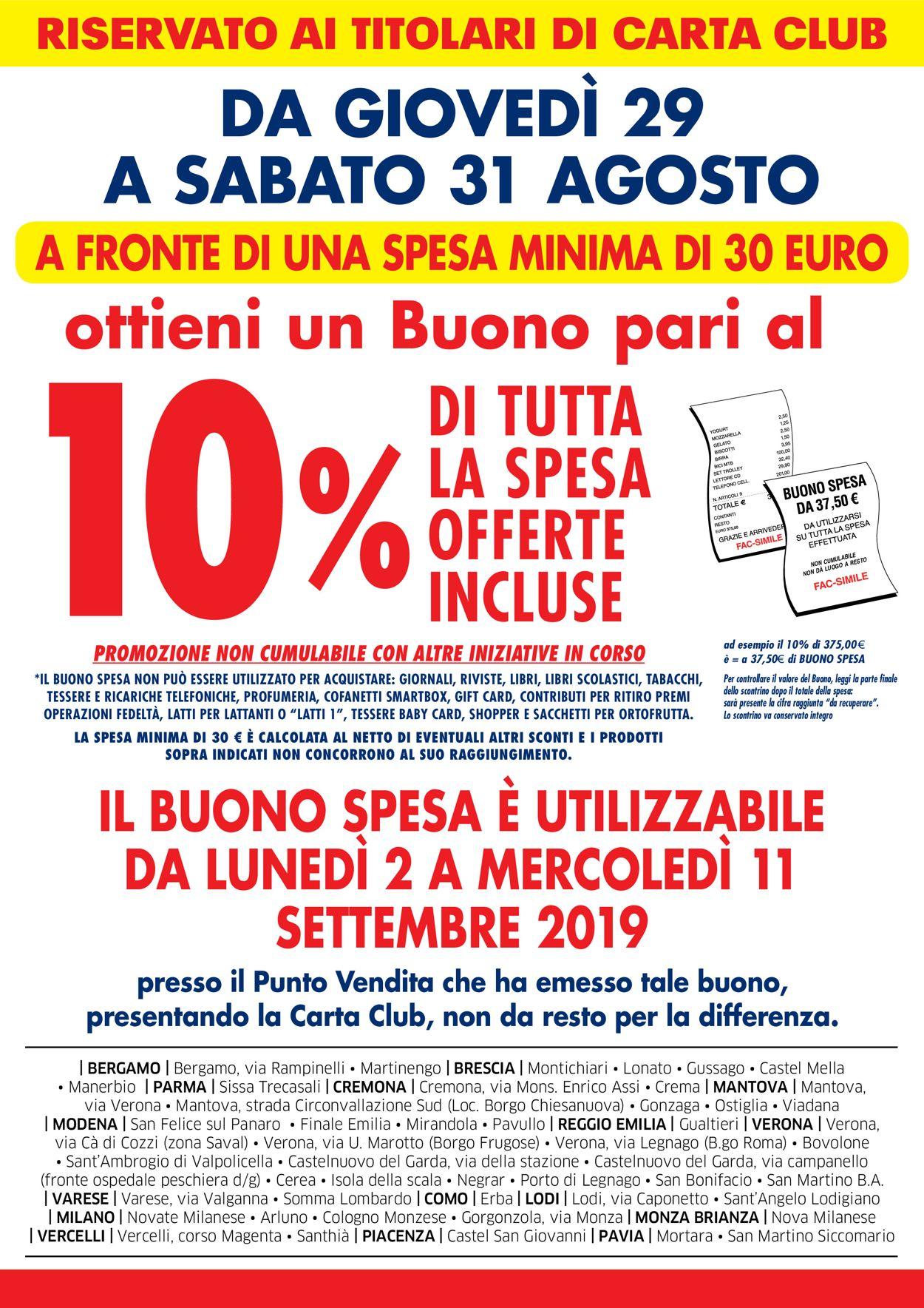 Volantino Famila - Offerte 29/08-31/08/2019 (Pagina 2)