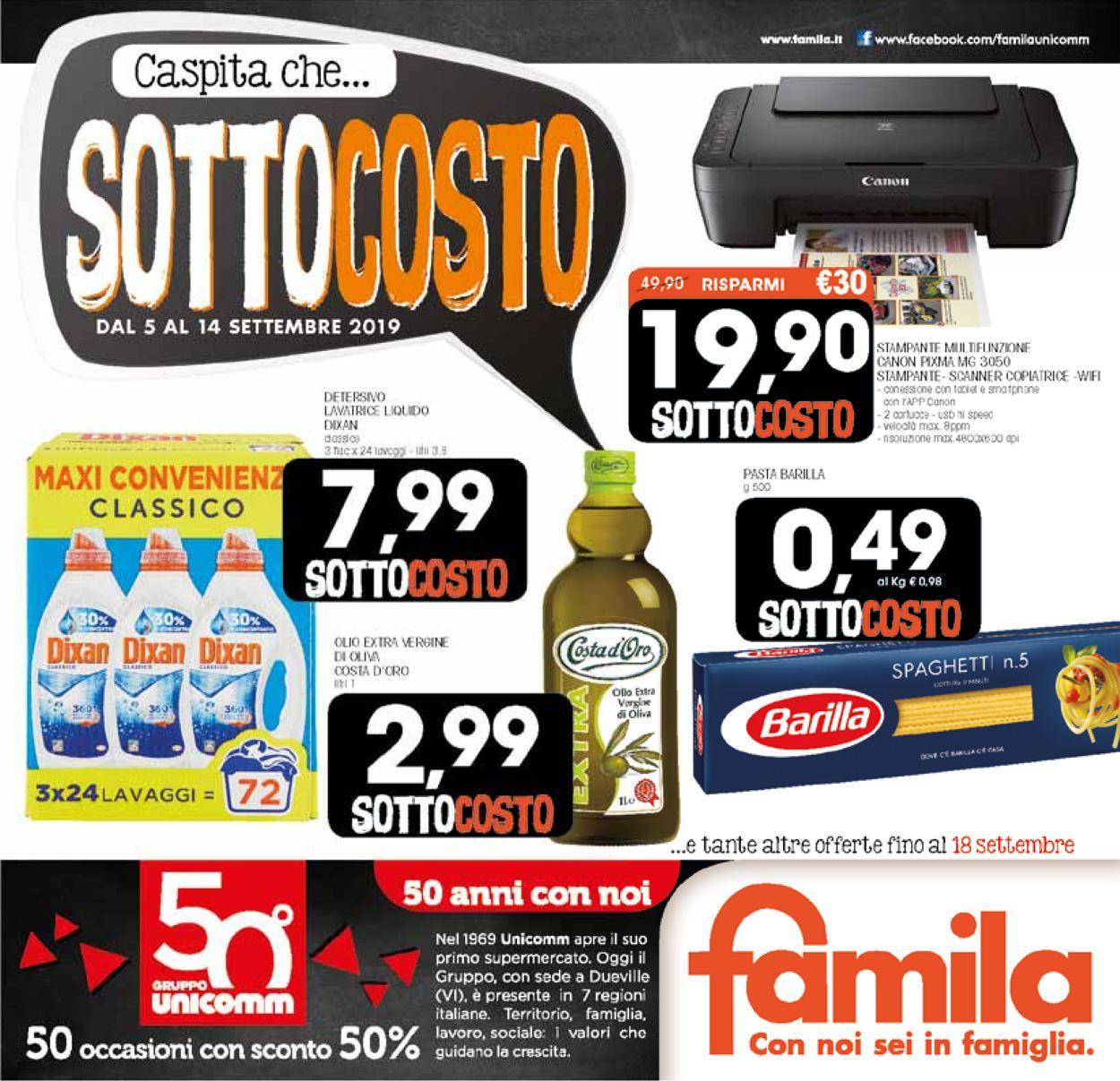 Volantino Famila - Offerte 05/09-18/09/2019