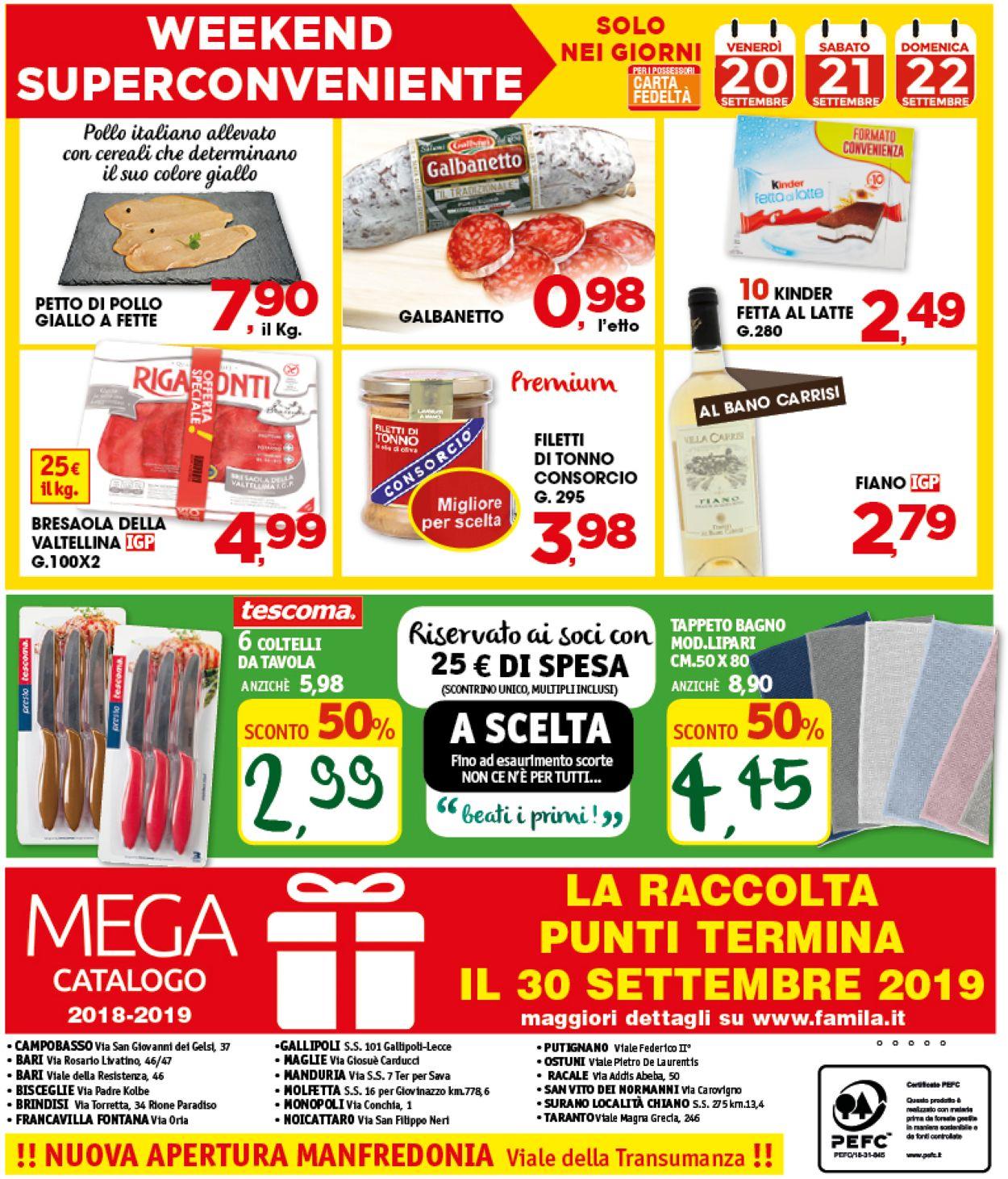 Volantino Famila - Offerte 19/09-26/09/2019 (Pagina 20)