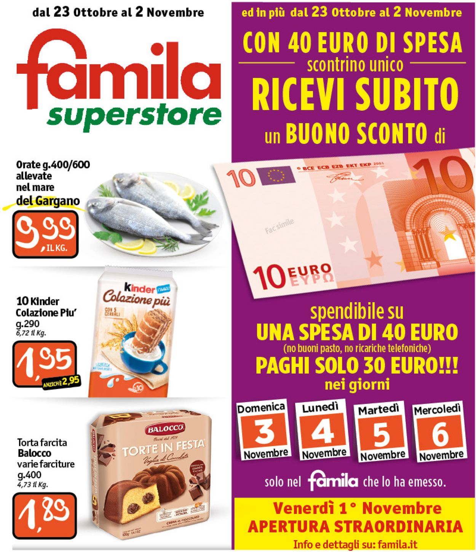 Volantino Famila - Offerte 23/10-02/11/2019