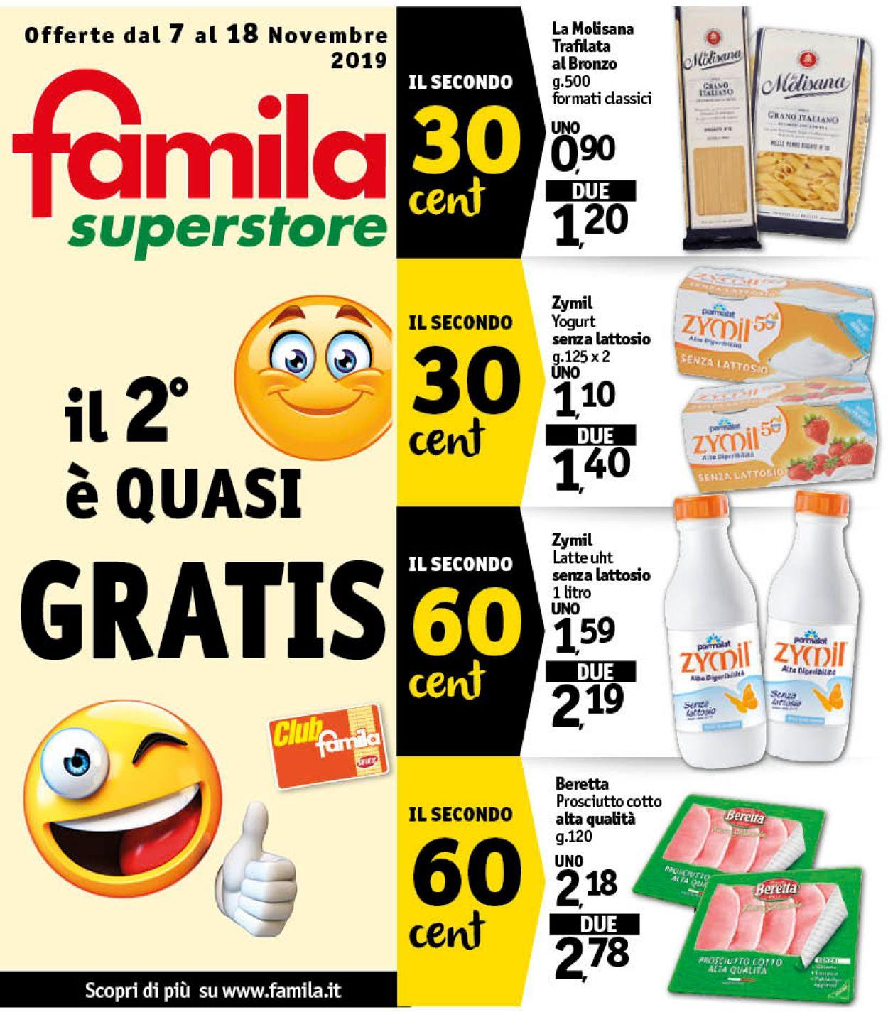Volantino Famila - Offerte 07/11-18/11/2019