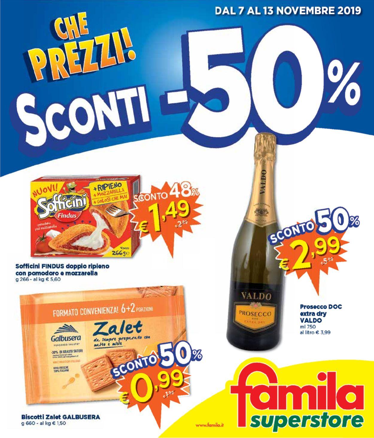 Volantino Famila - Offerte 07/11-13/11/2019