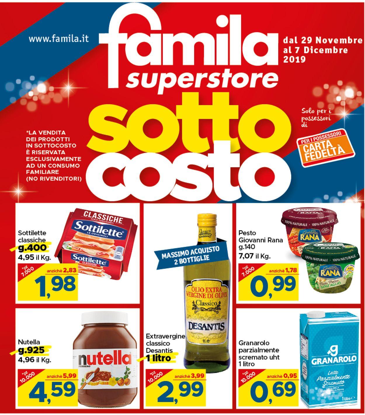 Volantino Famila - BLACK WEEKEND 2019 - Offerte 29/11-07/12/2019