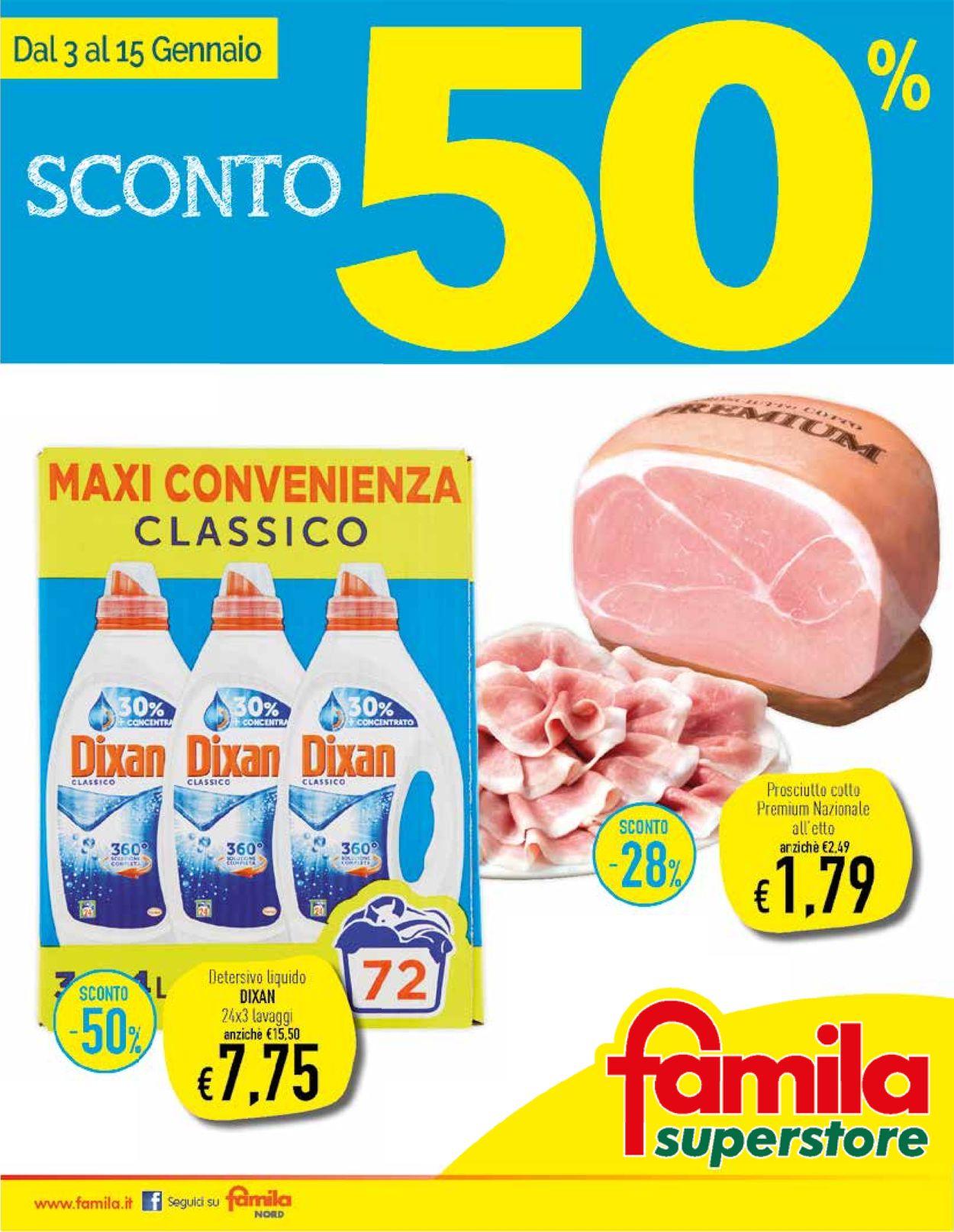 Volantino Famila - Offerte 03/01-15/01/2020