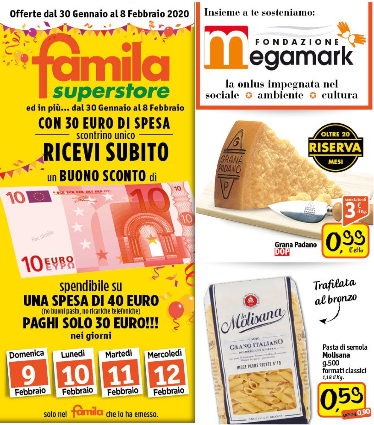 Volantino Famila - Offerte 30/01-08/02/2020