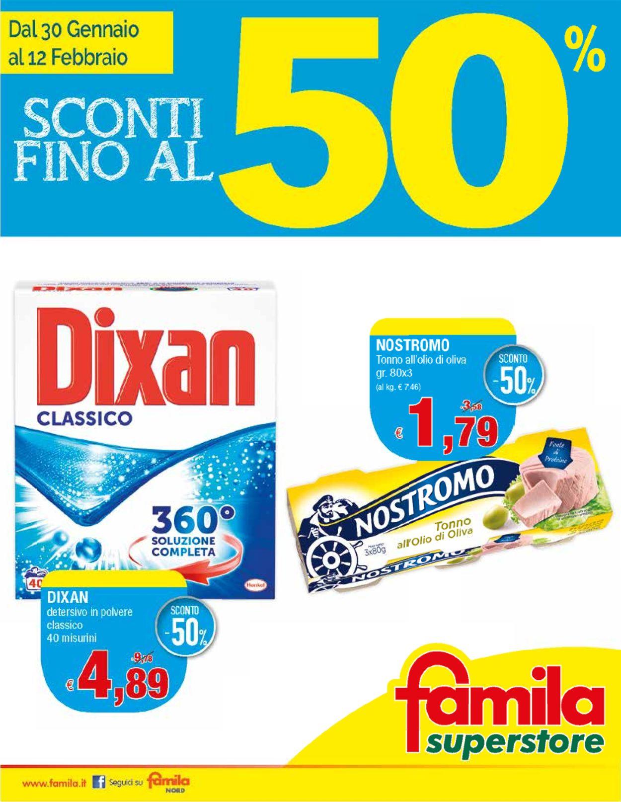 Volantino Famila - Offerte 30/01-12/02/2020