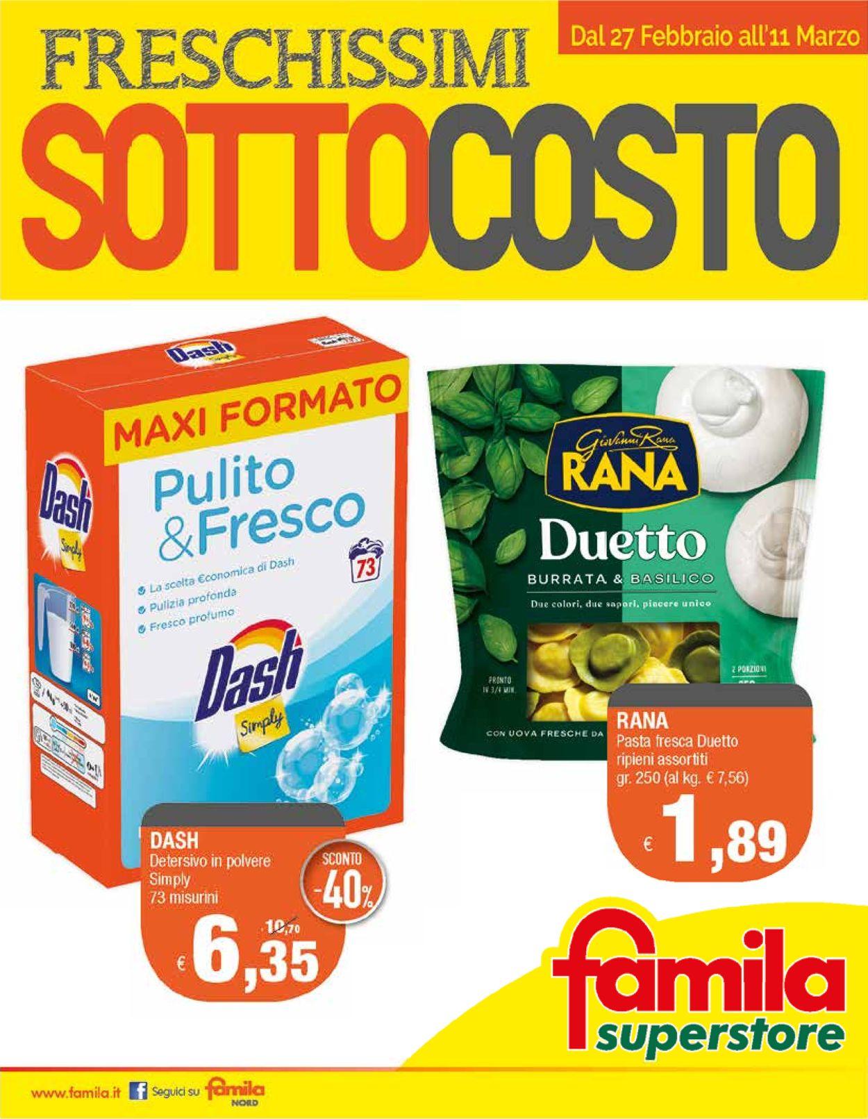 Volantino Famila - Offerte 27/02-11/03/2020