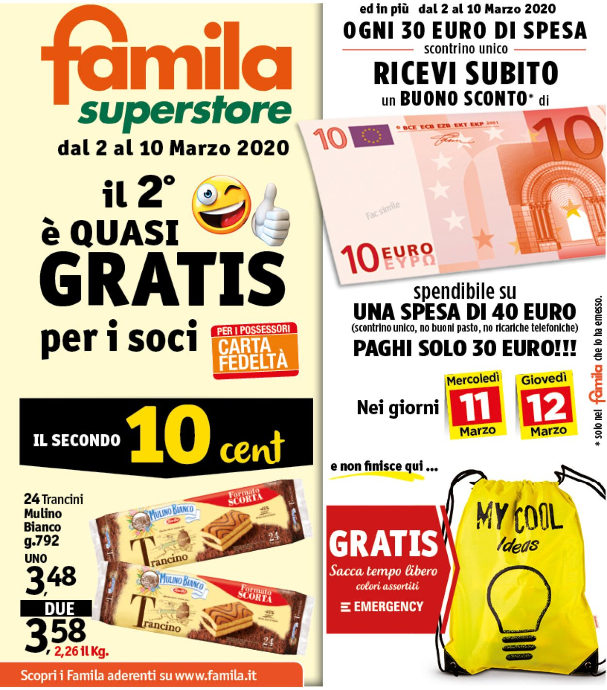 Volantino Famila - Offerte 02/03-10/03/2020