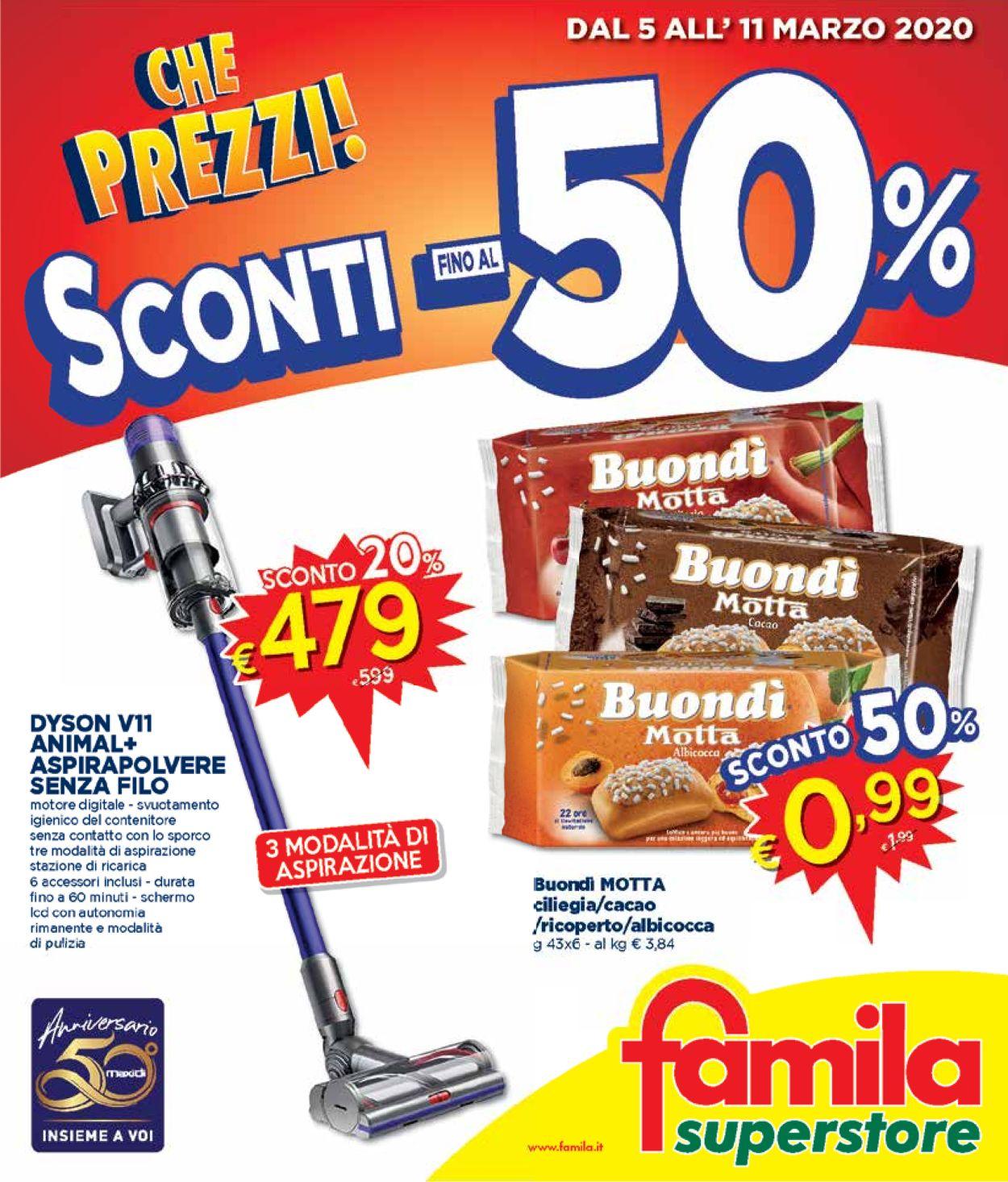 Volantino Famila - Offerte 05/03-11/03/2020