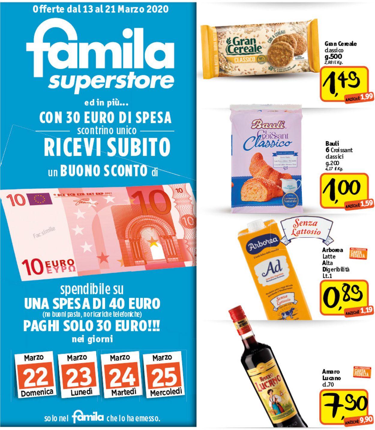 Volantino Famila - Offerte 11/03-21/03/2020