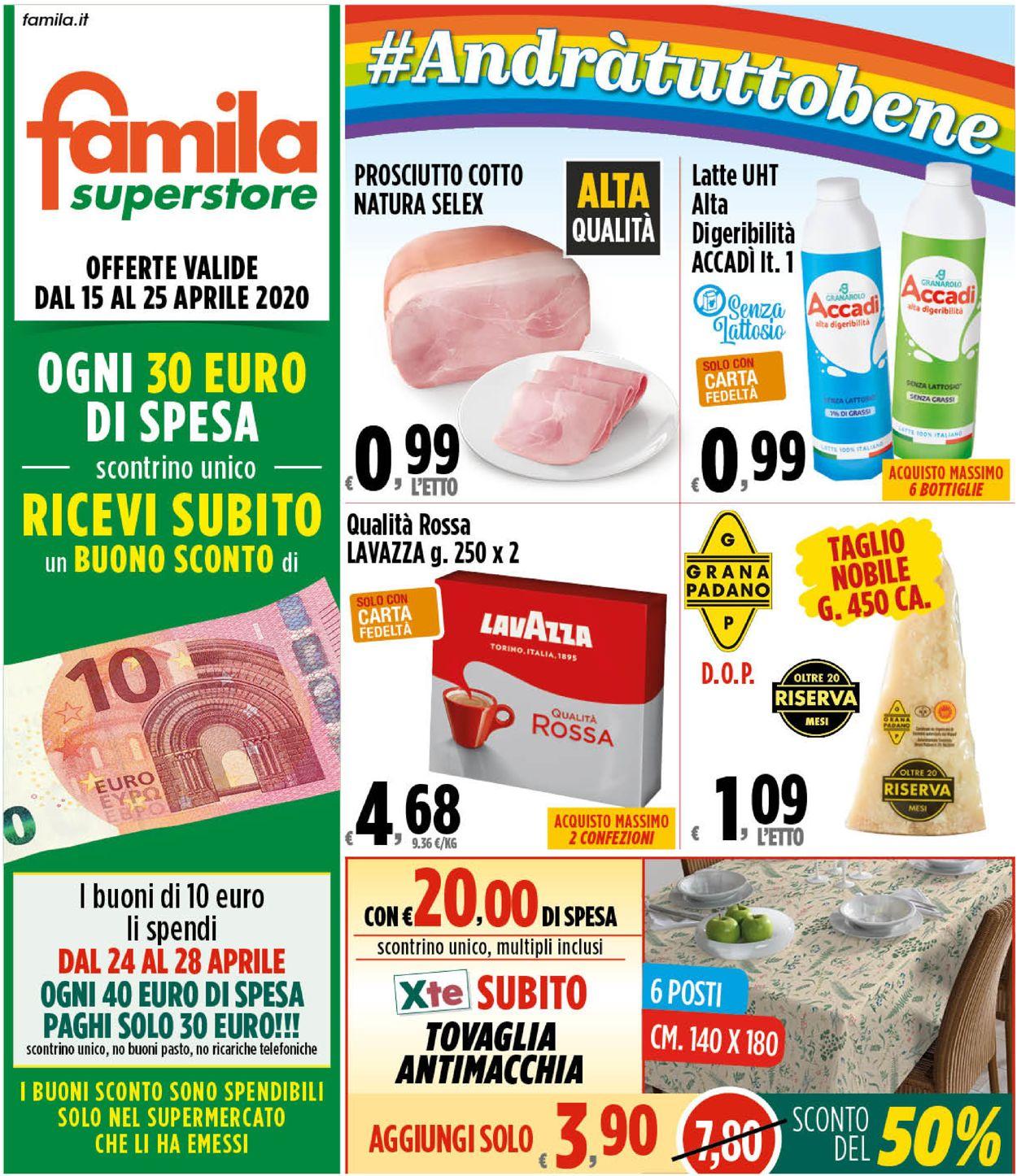 Volantino Famila - Offerte 15/04-25/04/2020