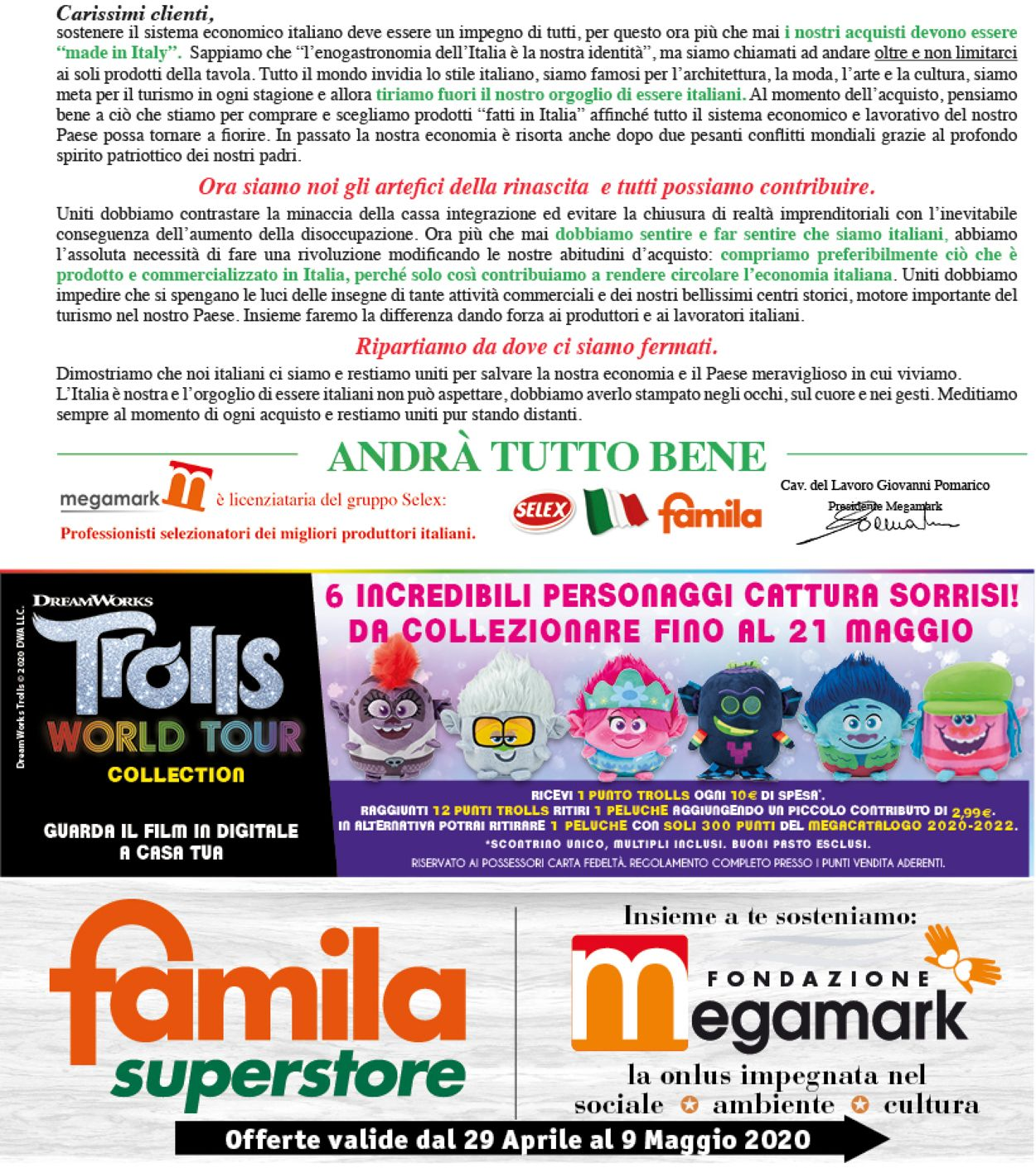 Volantino Famila - Offerte 29/04-09/05/2020