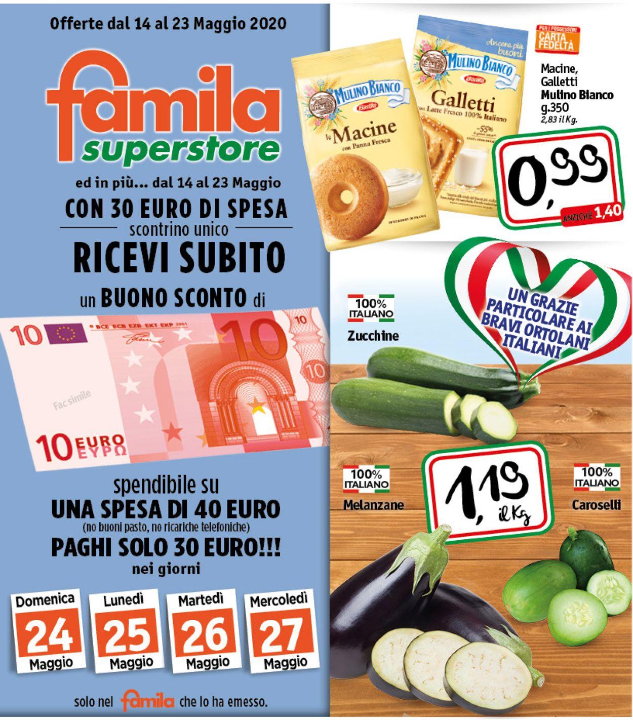 Volantino Famila - Offerte 14/05-23/05/2020