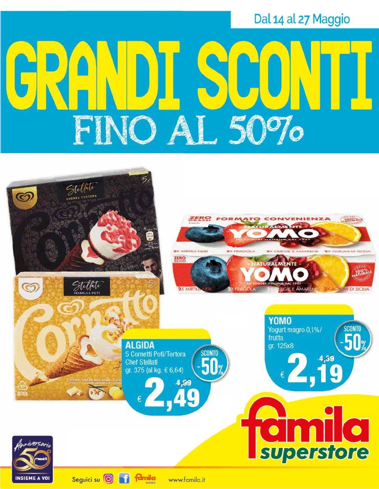 Volantino Famila - Offerte 14/05-27/05/2020