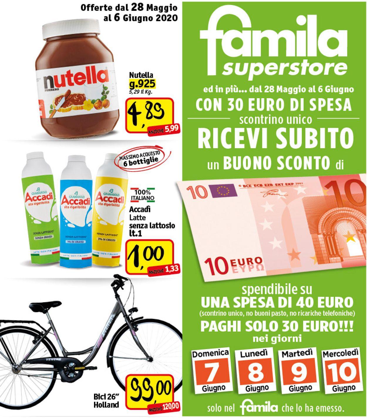 Volantino Famila - Offerte 28/05-06/06/2020