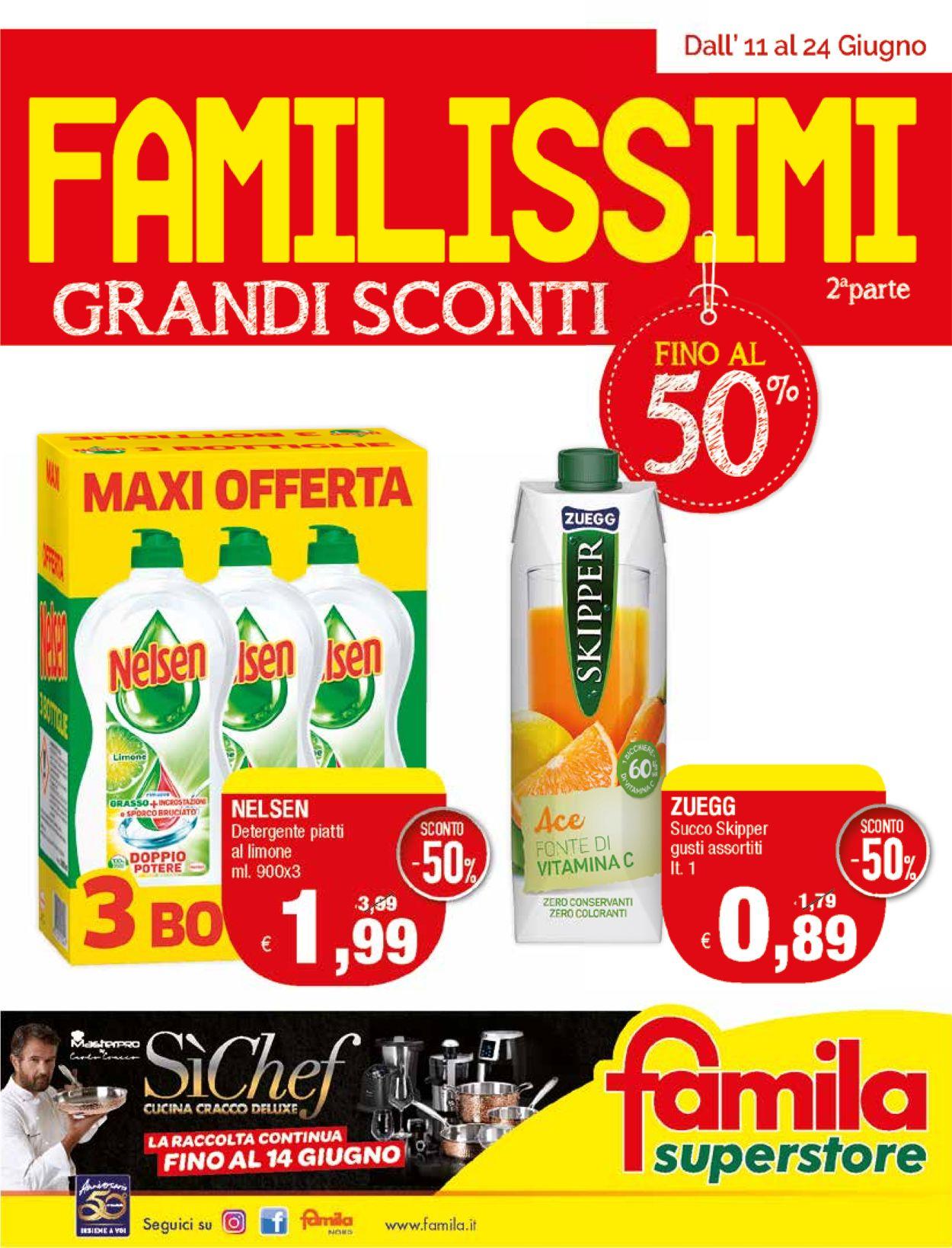 Volantino Famila - Offerte 11/06-24/06/2020