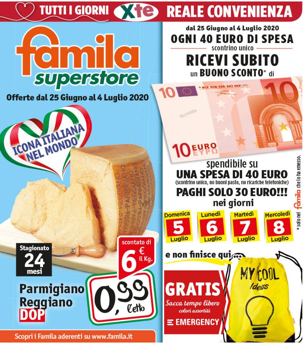 Volantino Famila - Offerte 25/06-04/07/2020
