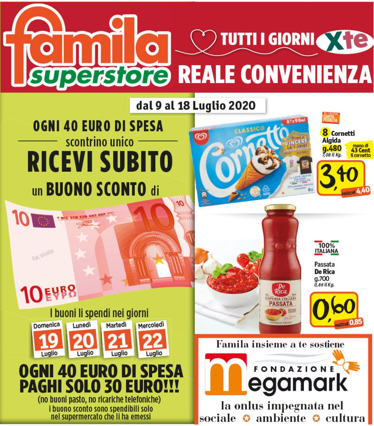 Volantino Famila - Offerte 09/07-18/07/2020