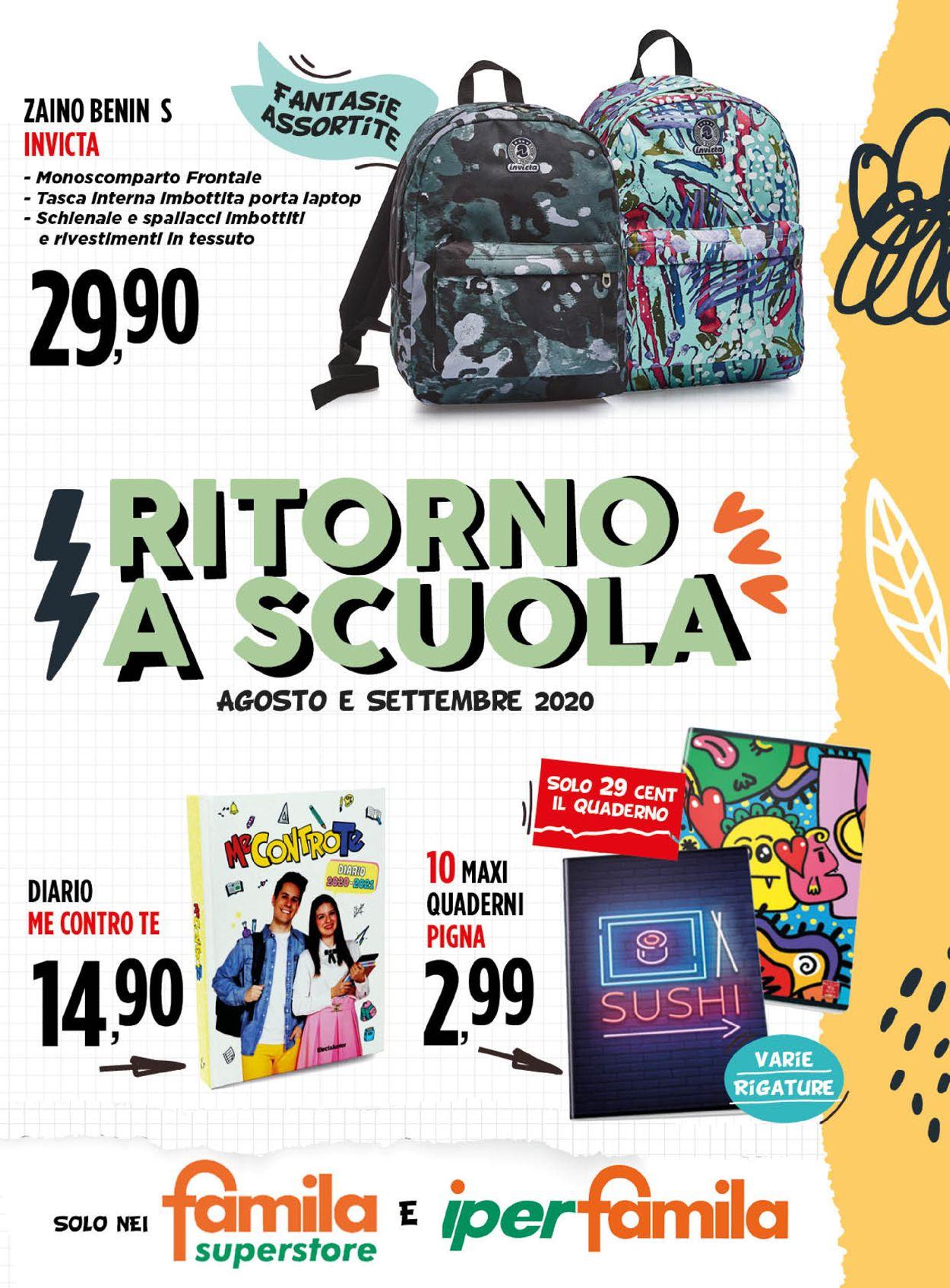 Volantino Famila - Offerte 01/08-30/09/2020