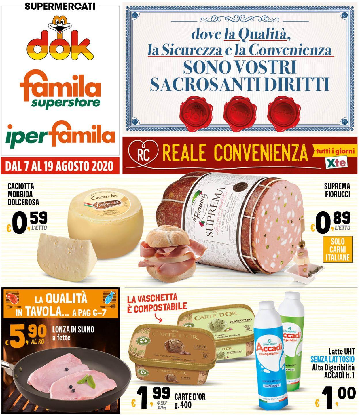 Volantino Famila - Offerte 07/08-19/08/2020