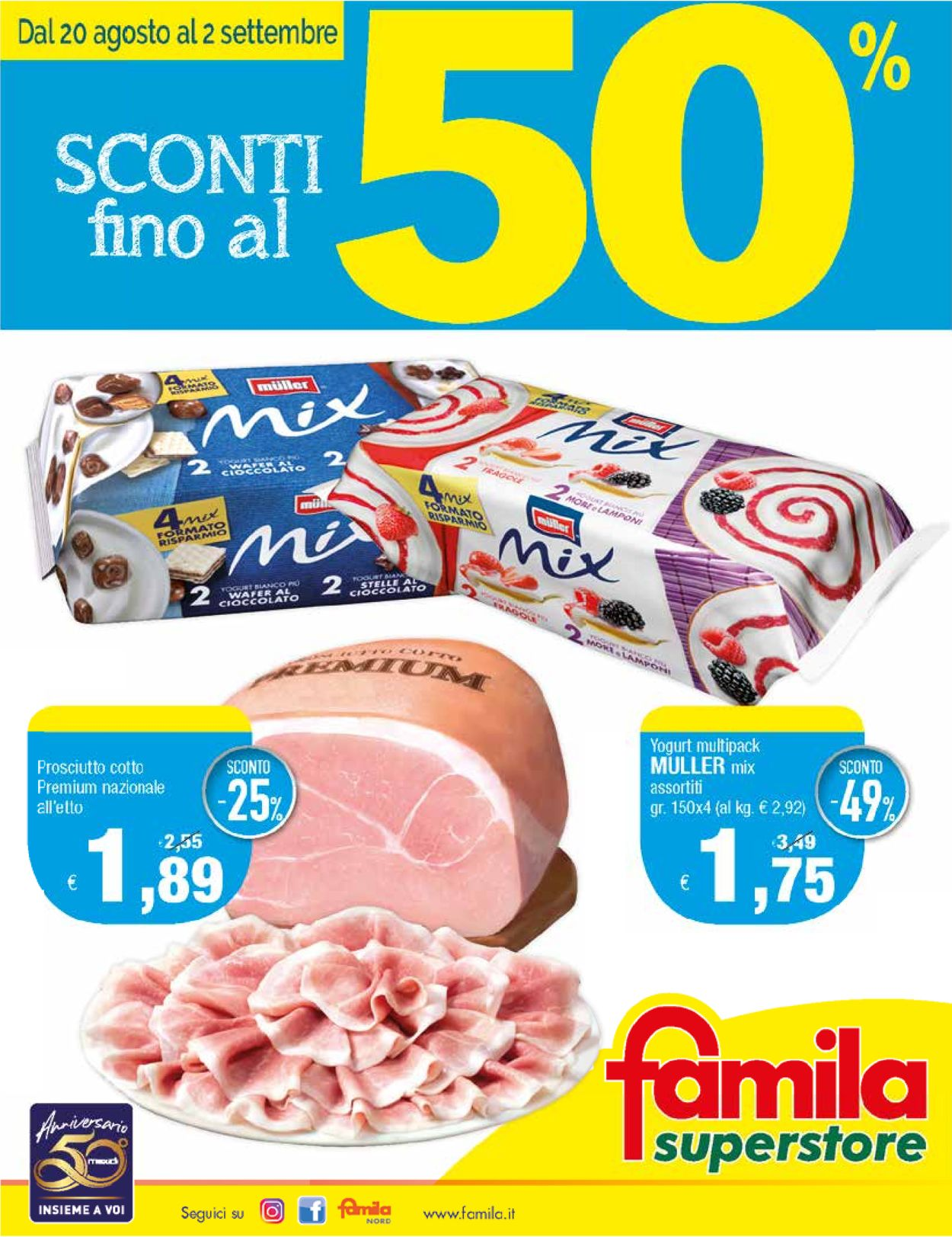 Volantino Famila - Offerte 20/08-02/09/2020