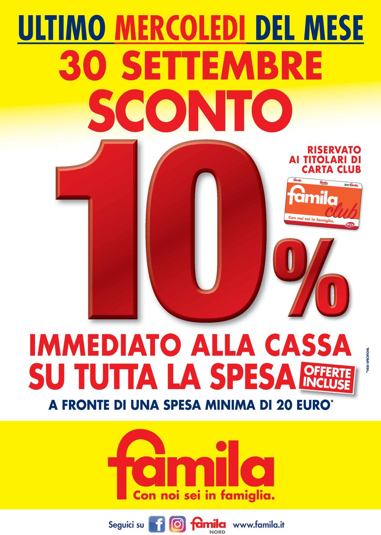 Volantino Famila - Offerte 30/09-30/09/2020