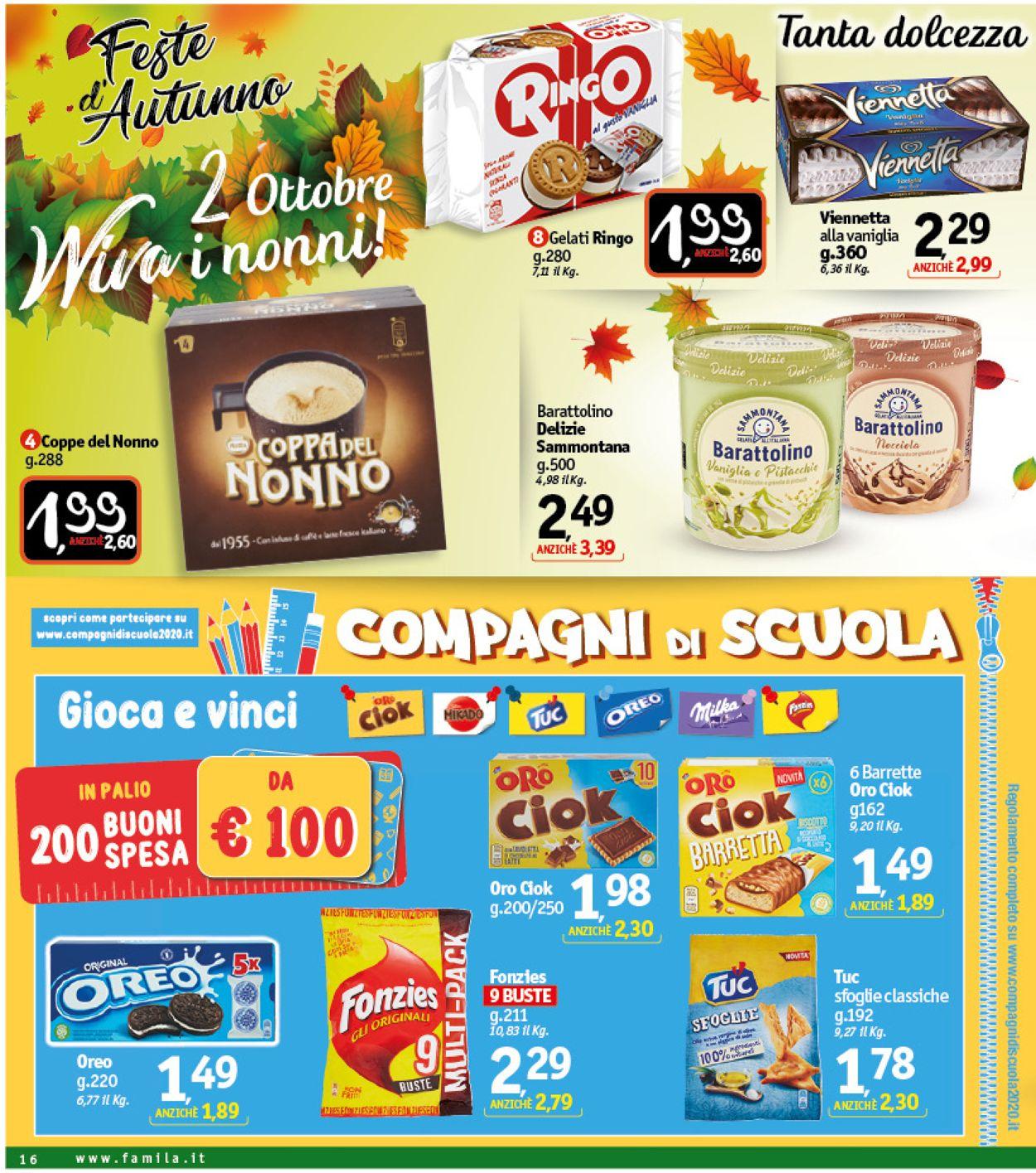 Volantino Famila - Offerte 01/10-10/10/2020 (Pagina 16)