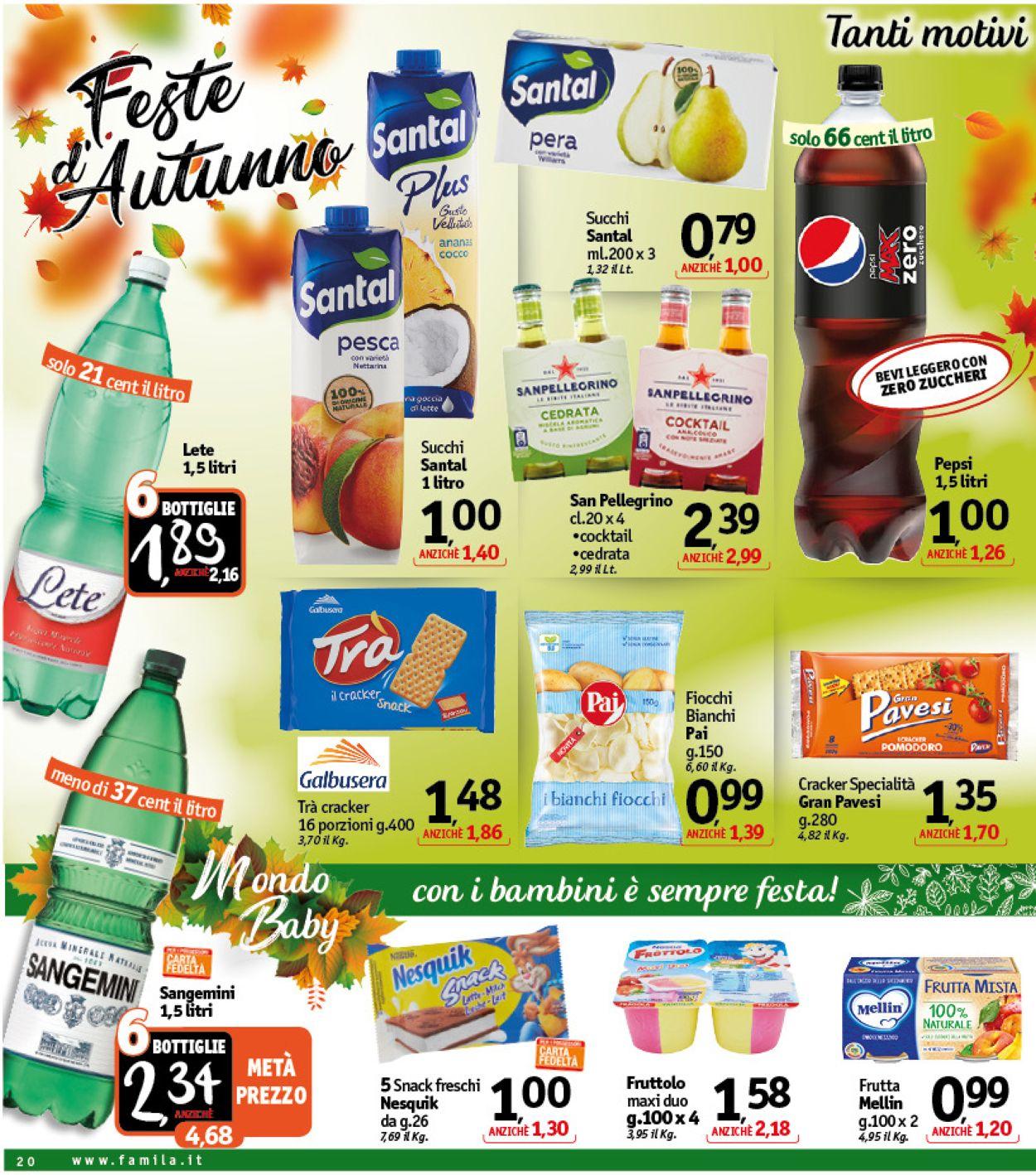 Volantino Famila - Offerte 01/10-10/10/2020 (Pagina 20)