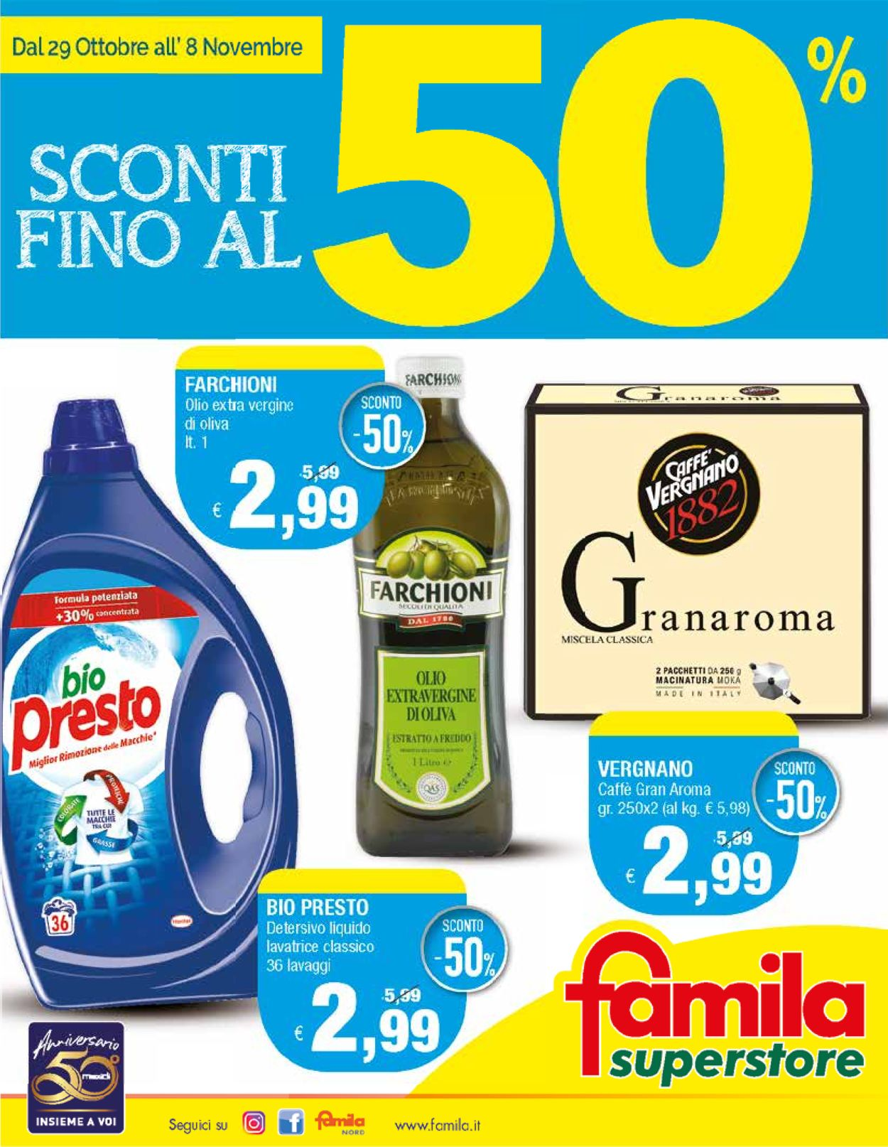 Volantino Famila - Offerte 29/10-08/11/2020