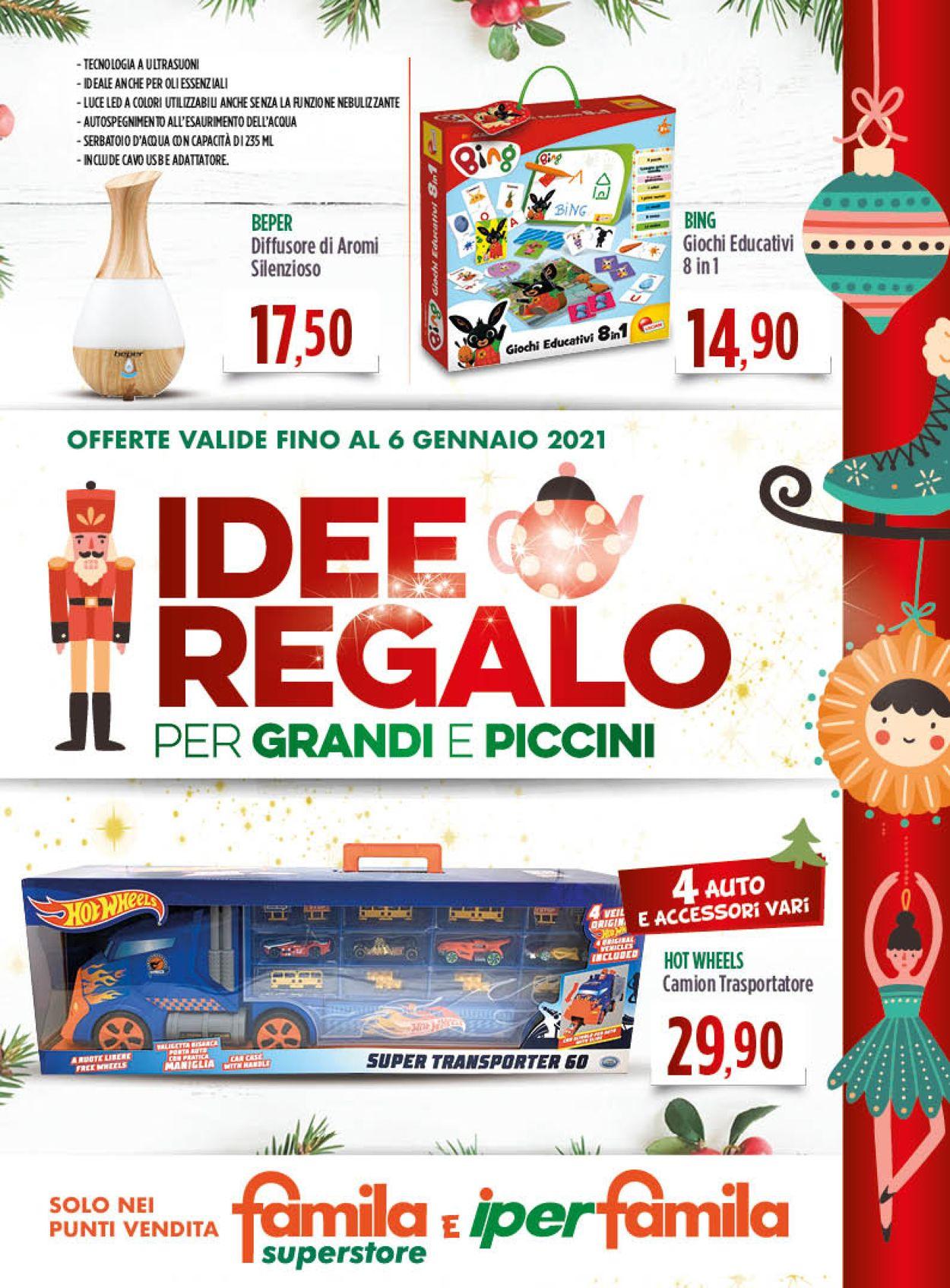 Volantino Famila - Natale 2020 - Offerte 01/12-06/01/2021