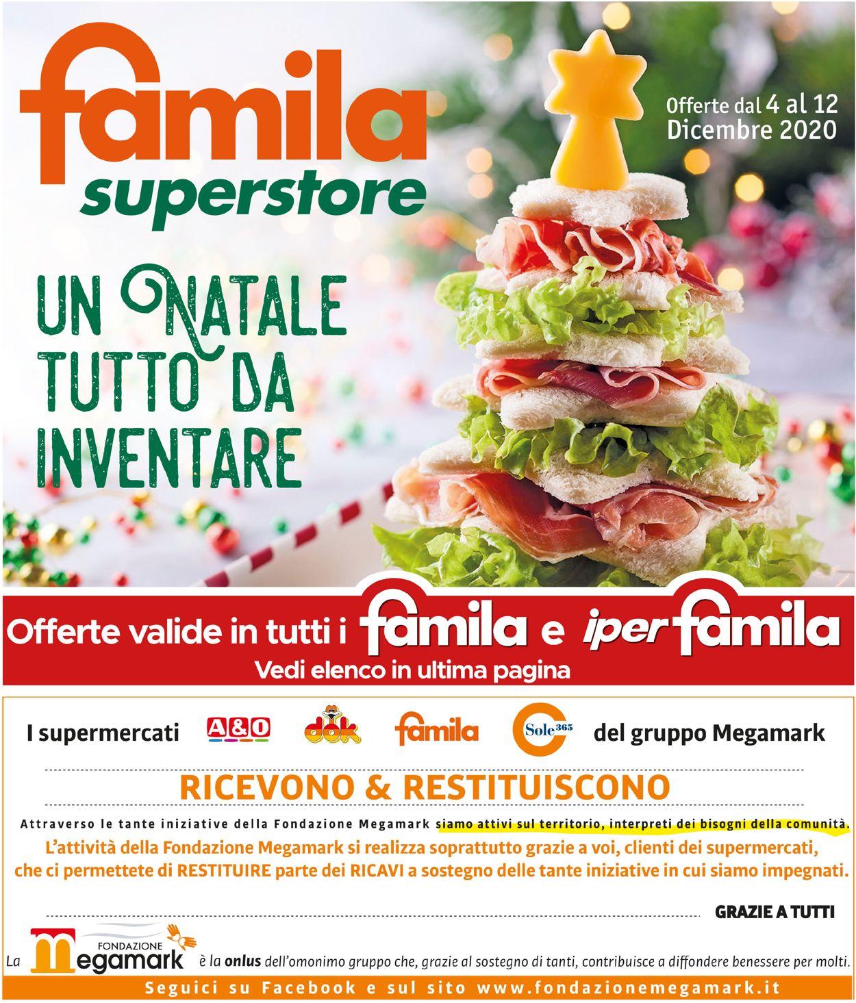 Volantino Famila - Natale 2020 - Offerte 04/12-12/12/2020
