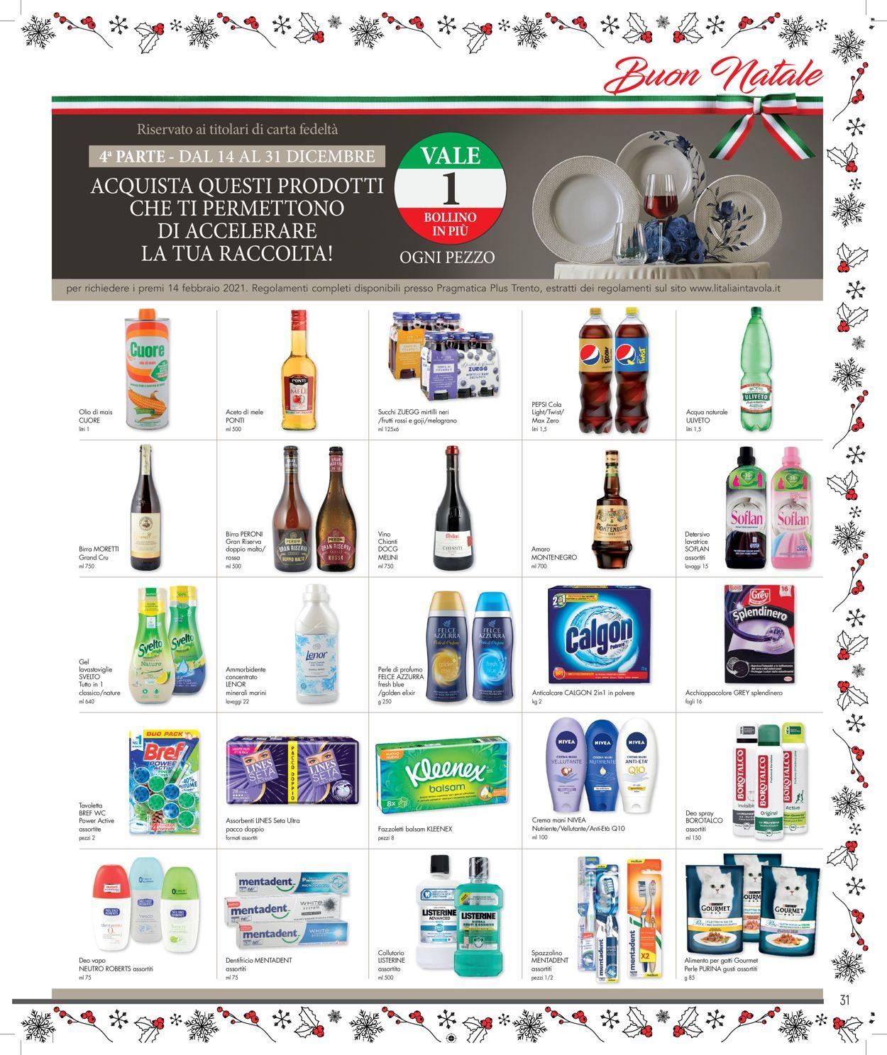 Volantino Famila - Natale 2020 - Offerte 14/12-31/12/2020 (Pagina 31)