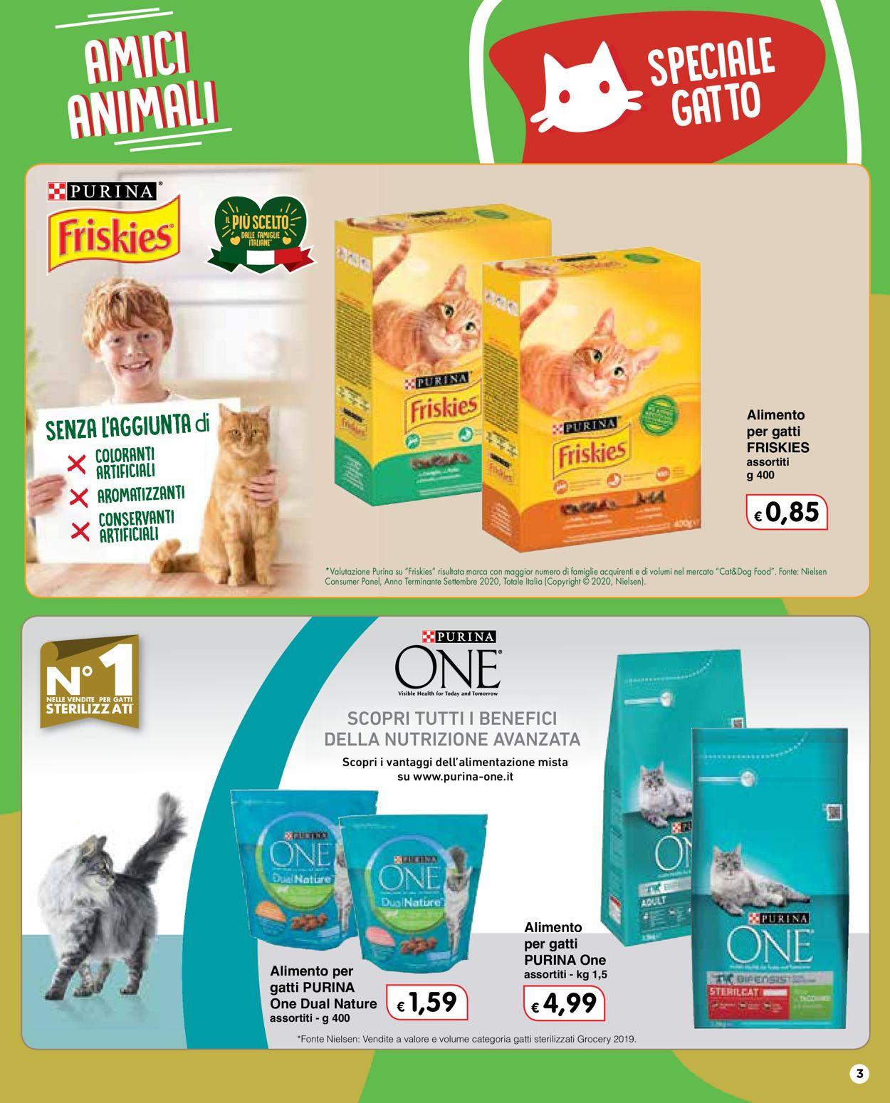 Volantino Famila - Amici Animali 2021 - Offerte 28/01-24/02/2021 (Pagina 3)