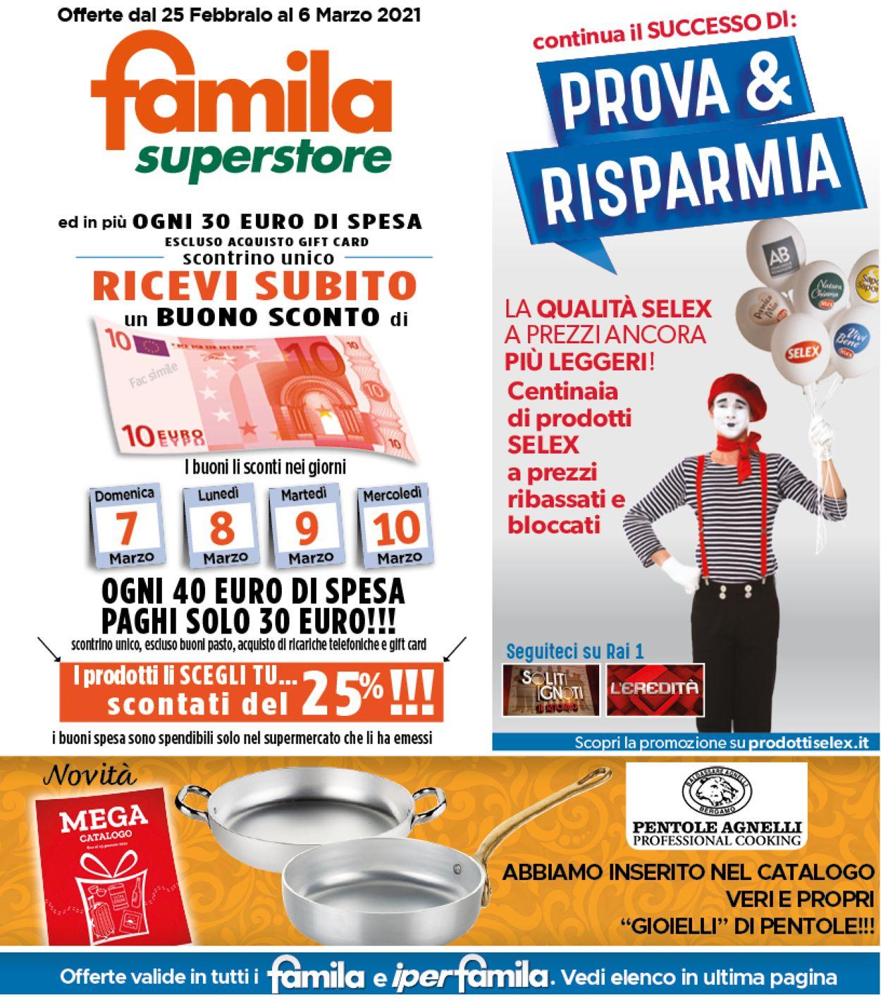 Volantino Famila - Offerte 25/02-06/03/2021