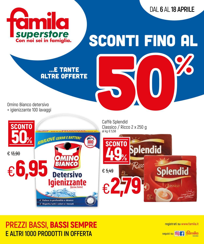 Volantino Famila - Offerte 06/04-18/04/2021
