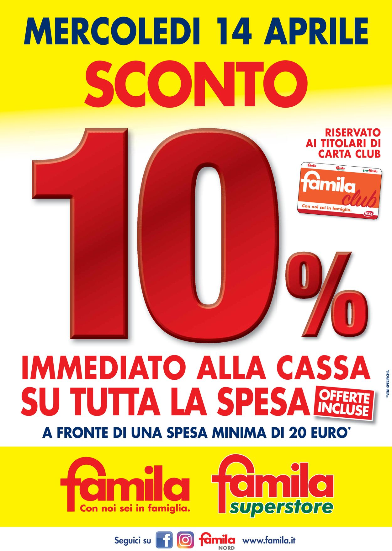 Volantino Famila - Offerte 14/04-14/04/2021