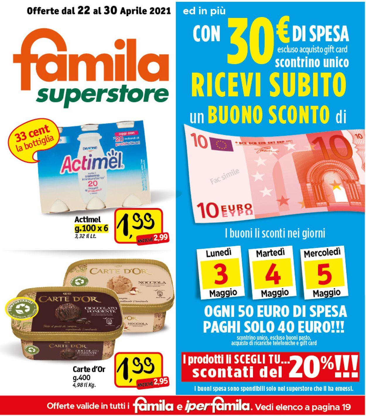Volantino Famila - Offerte 22/04-30/04/2021