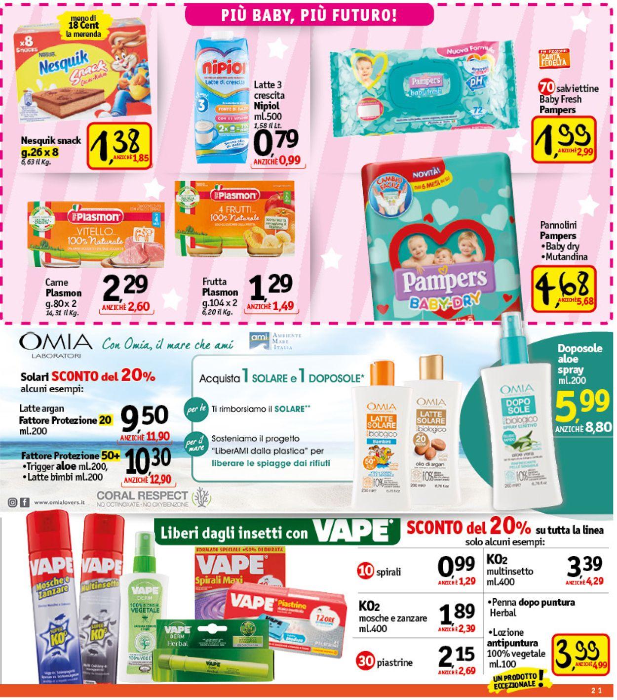 Volantino Famila - Offerte 01/07-10/07/2021 (Pagina 21)