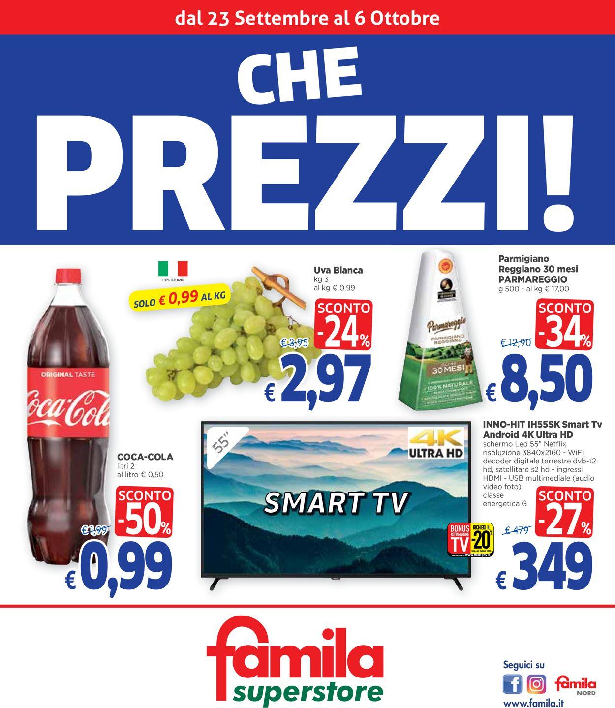 Volantino Famila - Offerte 23/09-06/10/2021