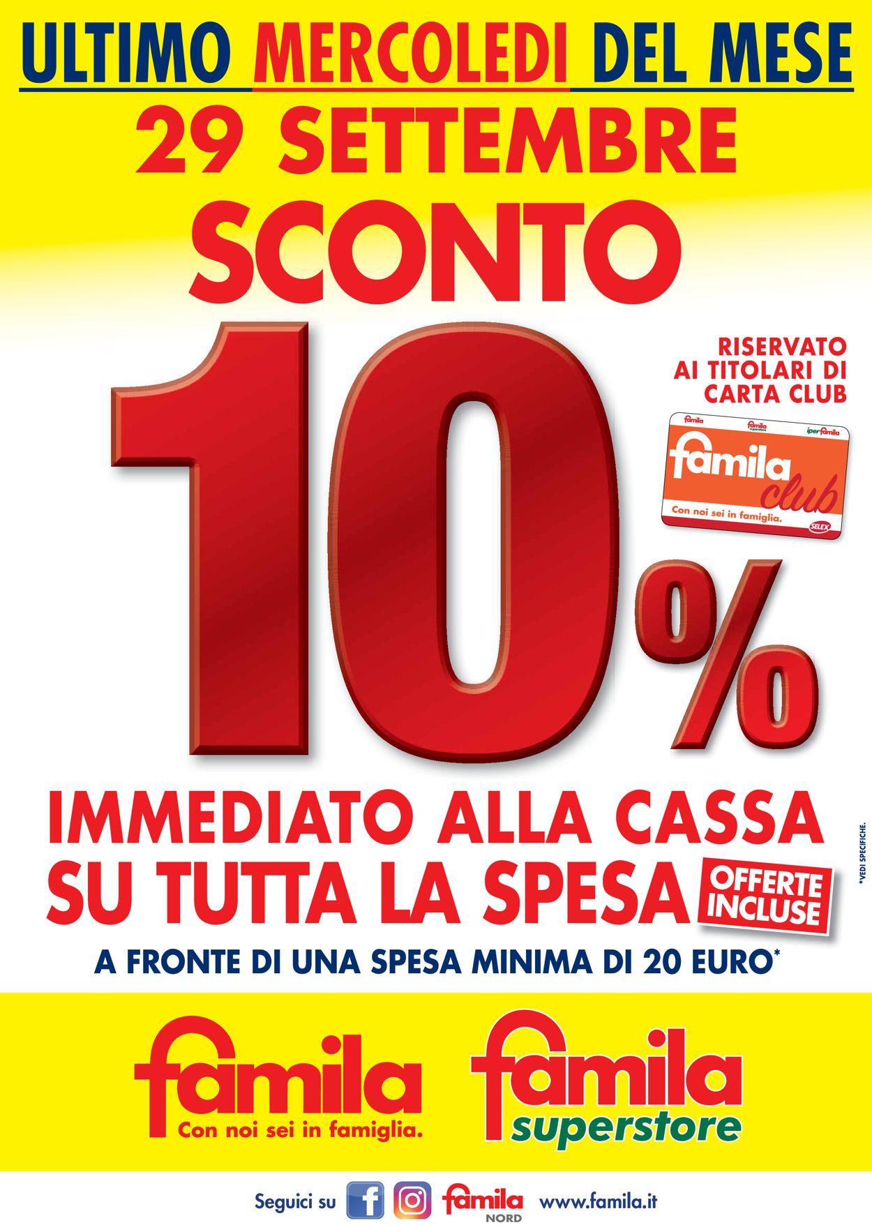 Volantino Famila - Offerte 29/09-29/09/2021