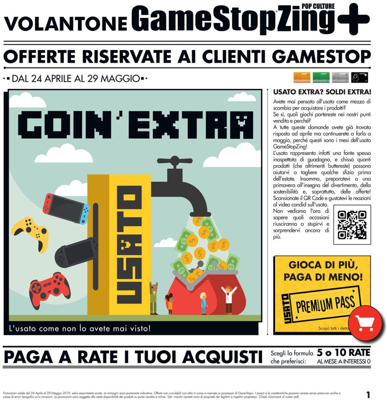 Volantino Gamestop - Offerte 24/04-29/05/2019