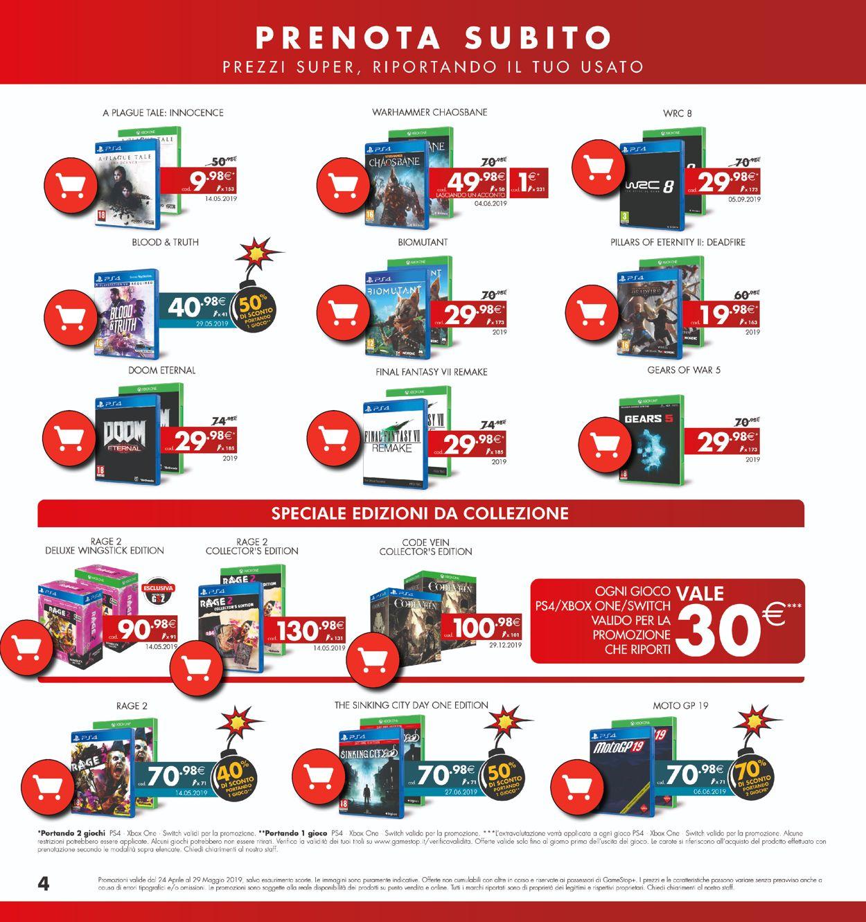 Volantino Gamestop - Offerte 24/04-29/05/2019 (Pagina 4)